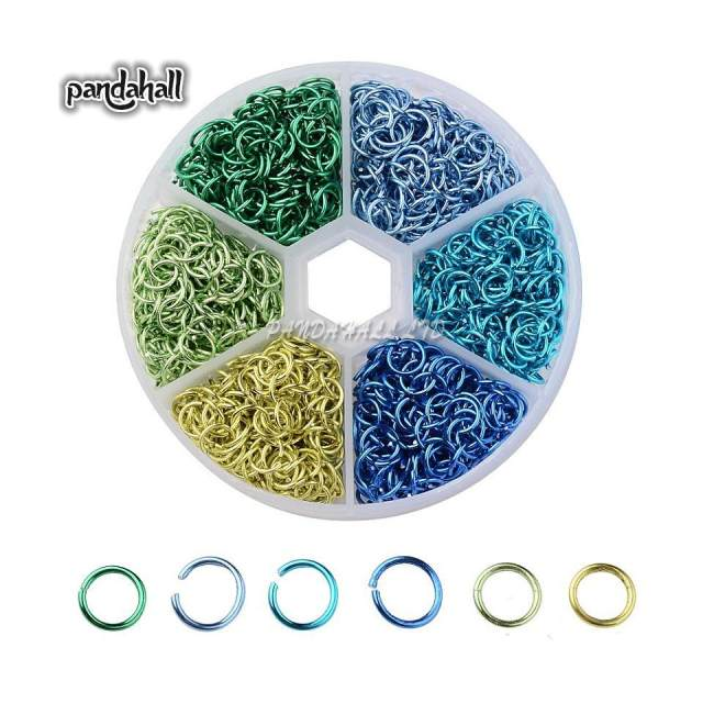 Online Shop Mixed Color Aluminum Wire Single Loops Split Ring Open ...