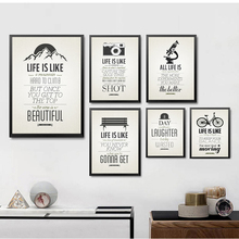 Creative Office Posters Painting Motivational Classroom English Hang Wall Retro Letters