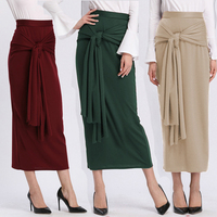 Plus Size Faldas Mujer Moda 2019 Abaya Muslim Arabic Long High Waist Maxi Bandage Bodycon Korean Skirt Jupe Femme Skirts Womens