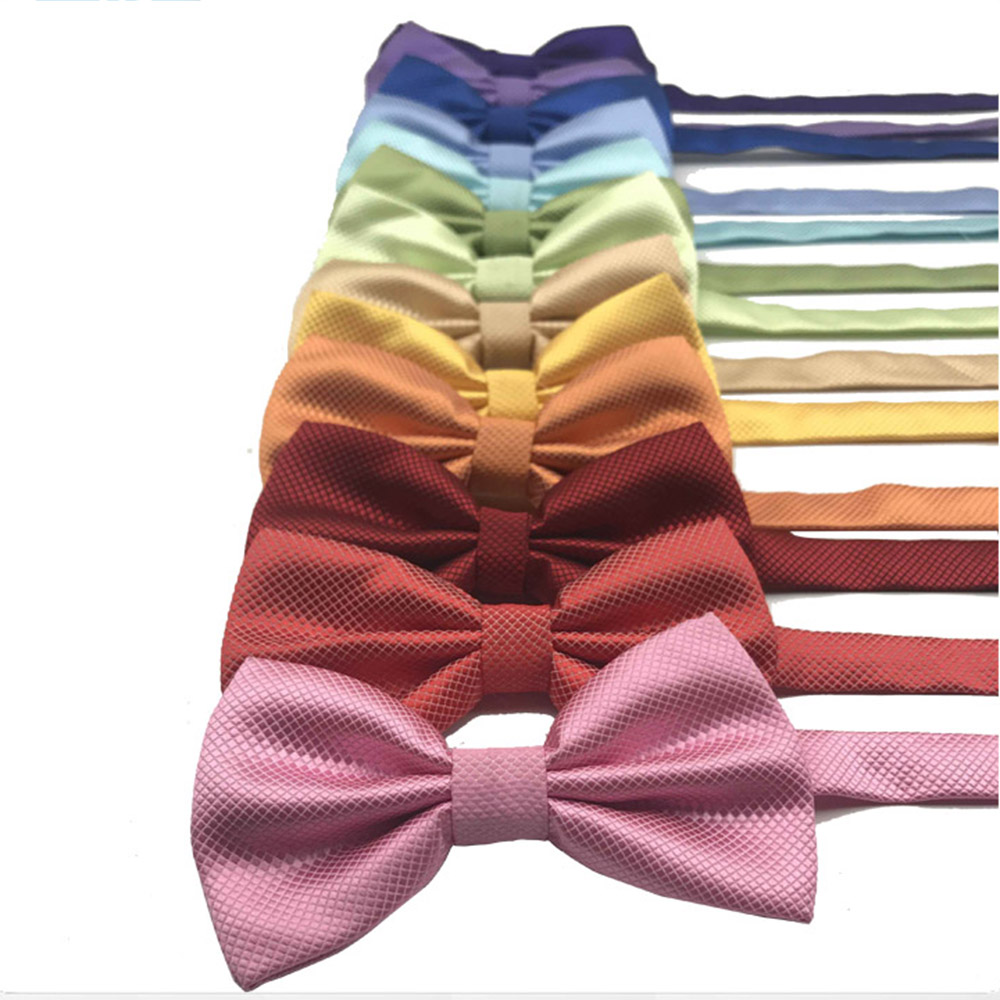 HUISHI Bowtie Men Red Bow Tie Black Bowtie Gold  Red Green Pink Blue White Classic Bow Tie For Men