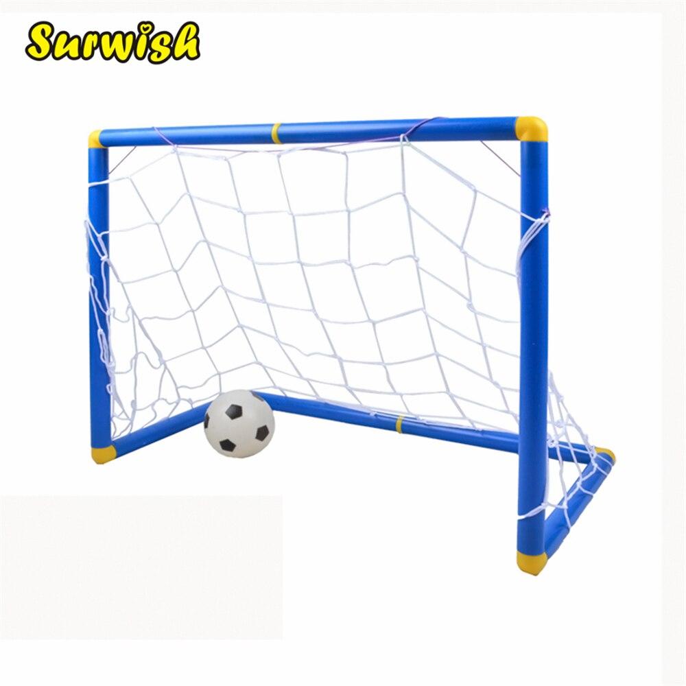 Di piccola Dimensione Dei Capretti di Sport Calcio Obiettivi con Soccer Ball e Pompa Pratica Scrimmage Gioco