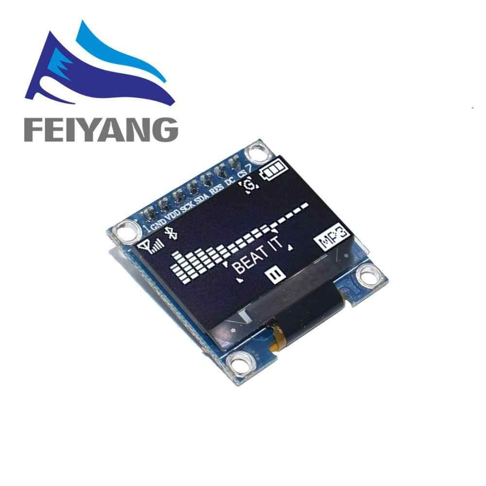 "4pin 7pin לבן/כחול/צהוב כחול צבע 0.96 אינץ 128X64 OLED תצוגת מודול עבור Arduino 0.96 ""IIC i2C SPI לתקשר"
