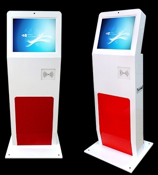 19 Inch Touch Interactive Signage School Attendance Time Recording IC/ID/Radio Frequency Card/ Face Recognition Pc Kiosk