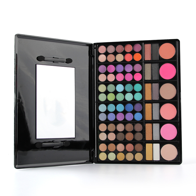 78 Colors Eyeshadow Makeup Palette Set Earth Color Matte Shimmer Eye Shadow Kit With Mirror Lipstick Concealer Powder Blusher
