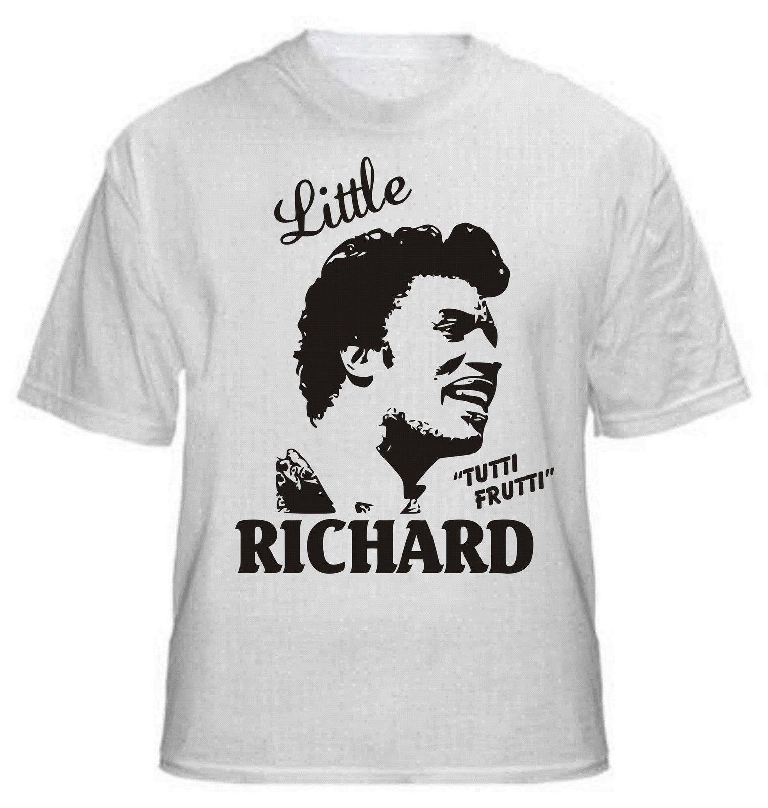 Leqemao 2017 новые немного прохладной Ричард Тутти Фрутти футболка rocknroll Легенда-все 3d принт Для мужчин из 100% хлопка короткий рукав Футболка