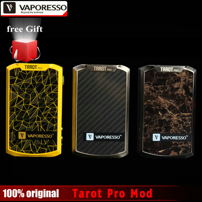 100% Original Vaporesso Tarot Pro Box Mod Vape 160W VTC VT&VW Modes Electronic Cigarette Vaporizer Support Sub ohm Tank Atomizer original electronic cigarette smoant charon ts 218w box mod mechanical mod five heating modes for different needs 18650 vape mod