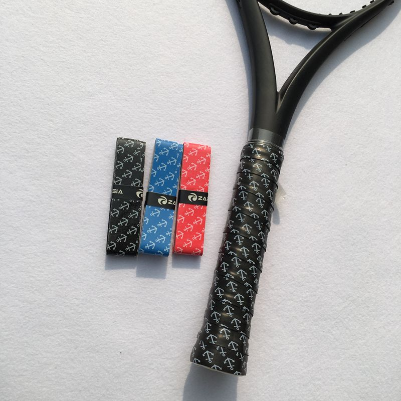 (10 pcs/lot)Free shipping ZARSIA printing tennis overGrip,Anti-Slip badminton Overgrips, Sticky feel tennis racket overgrips