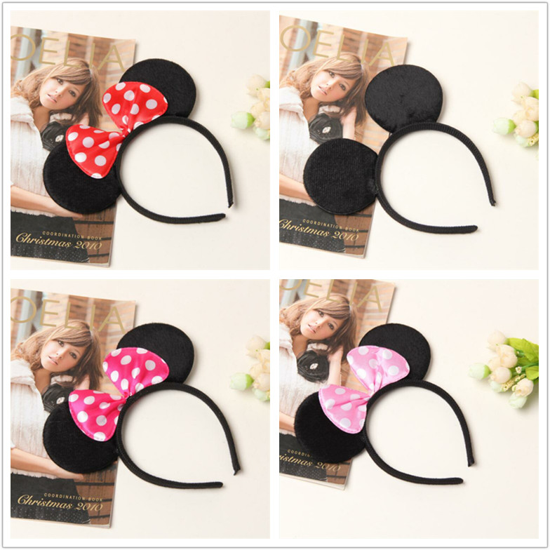 Jumbo Large Black Pink Mouse Ears Costume Accessory Mickey Headband
