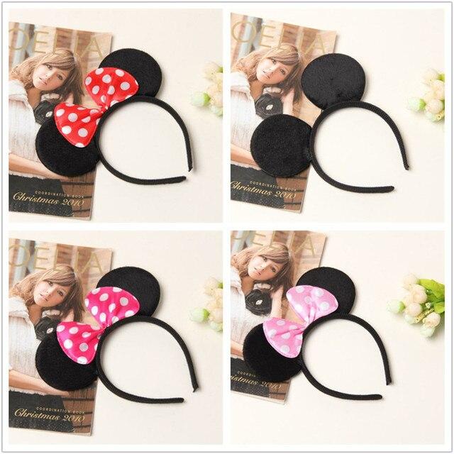 Mickey Minnie headband Cute Elsa Mouse Ear Hair Band Small Mouse Headbands  for Women Hello Kitty b46812d3bd0