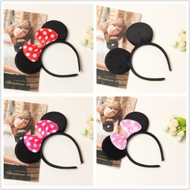 Mickey Minnie hoofdband Leuke Elsa Muis Oor Haarband Kleine Muis Hoofdbanden voor Vrouwen Hello Kitty Haaraccessoires
