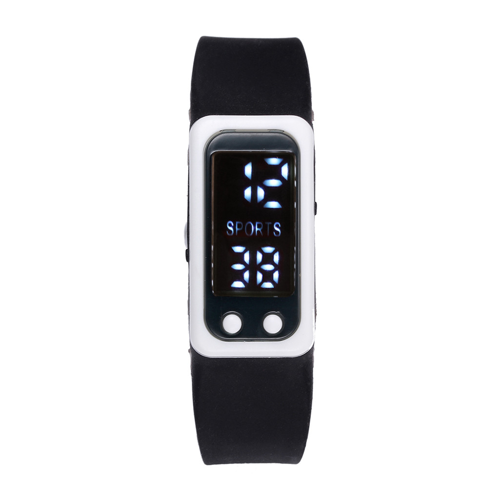Sport Bracelet Watch Run Step Watches Bracelet Pedometer Calorie Counter Digital LCD Walking Distance Waterproof Wrist Watch