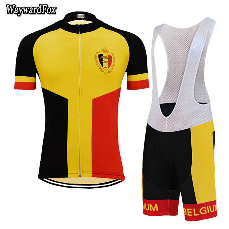 9bdd54069 Detail Feedback Questions about NEW 2018 Men Belgium Team Cycling Jersey  Set   Short sleeve Cycling Clothing MTB   ROAD Bike wear 3D gel Pad on ...