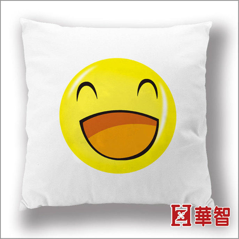 2016 Creative Cushion cartoon Smiley Face Expression square Cushions home Pillow Stuffed cotton toy gift free shipping