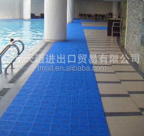 Moisture and dust removal floor mat non slip PVC mat swimming pool ...