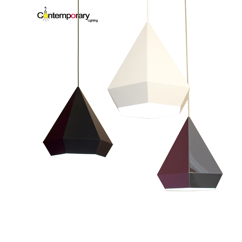 Black Gold chrome Diamond Pyramid hexagon shaped pendant lamp for Dining Room Restaurant Bedroom geometric living room lamp