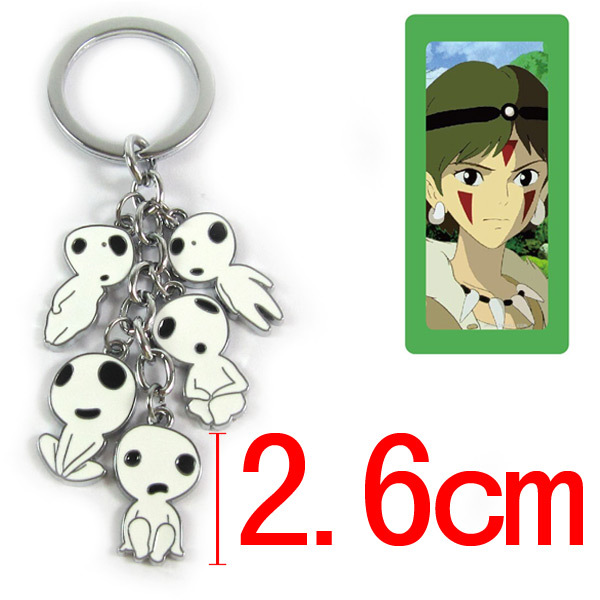 Japan Anime Princess Mononoke tree elves Keychain Cosplay Anime Keychain Keyring New Gift