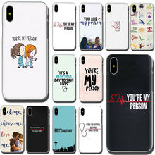 Greys Anatomy You're My Person Hard Phone Case for Apple iPhone XR XS Max X 8 7 6 6S Plus(China)