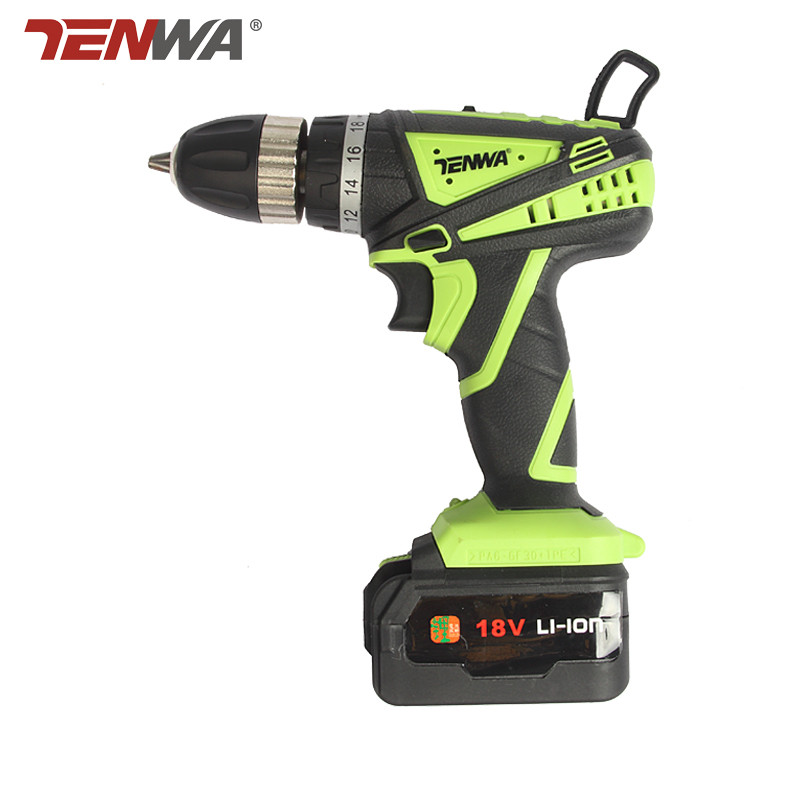 Tenwa 18V electric drill lithium battery drill hole hand Wireless Cordless bit charger cordless electric screwdriver power tool кусторез электрический bosch ahs 45 16 0600847a00