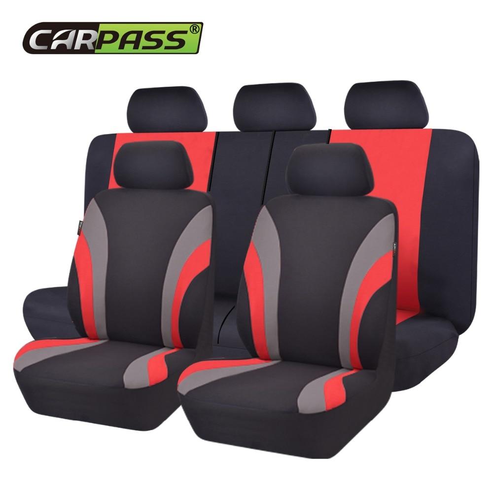 Car-pass Uus värvikas spordi seeria autode istmekatete universaalne - Auto salongi tarvikud - Foto 2