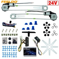 MOTOBOTS DC24V Car/Truck Front 2 Doors Electric Power Window Kits with 3pcs/Set Switches & Harness #FD 4064