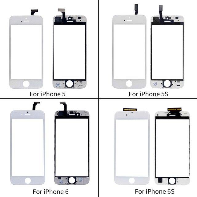 Netcosy Màn Hình Cảm Ứng Digitizer + Khung Đối Với iPhone 6 6 S 5 S 5C 5G Màn Hình Cảm Ứng Cảm Ứng Phía Trước Bảng Điều Khiển kính Ống Kính Giá Rẻ Phụ Kiện Điện Thoại