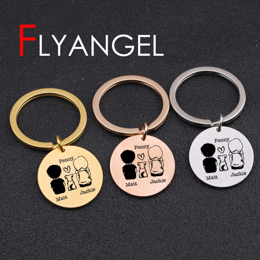 Custom Name Fashion Keychain Engraved Dad A Son Frist Hero A