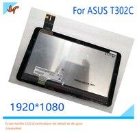 B125HAN01.0 tela de LCD Original + toque digitador de vidro para ASUS Transformer T302C T302 substituição exibição|Painéis e LCDs p/ tablet| |  -
