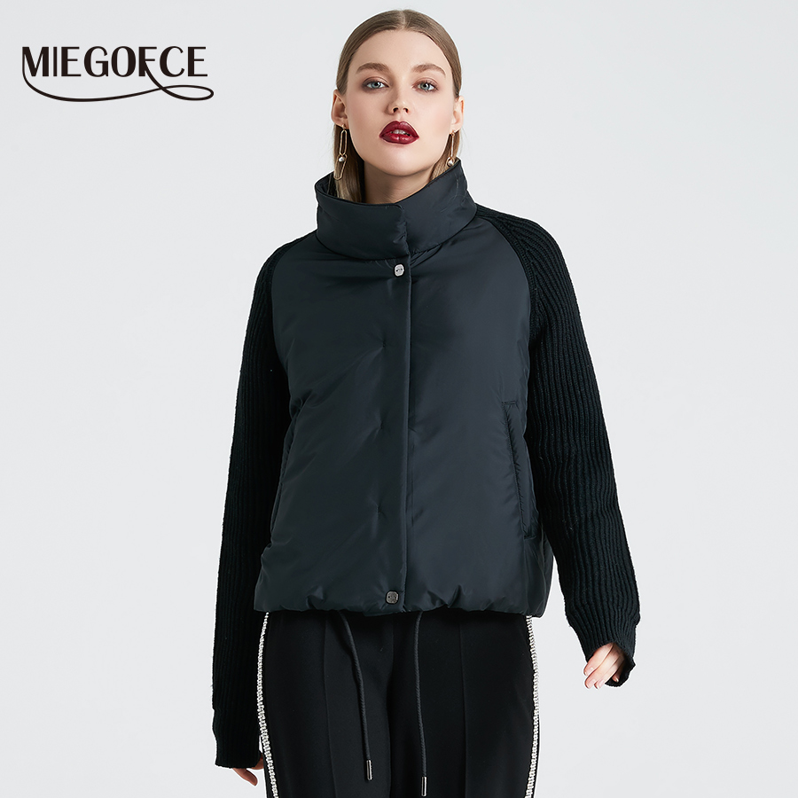 MIEGOFCE 2019 Short Women's Coat And thin cotton padded  jacket Spring Women's Jacket Stylish With Collar New Spring Collection Jackets    - AliExpress