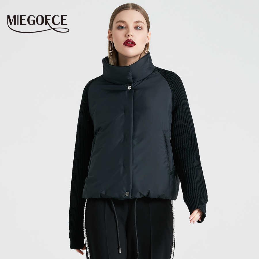 Miegofce 2019 Wanita Mantel dan Katun Tipis Jaket Musim Semi Wanita Jaket Bergaya dengan Kerah Baru Musim Semi koleksi