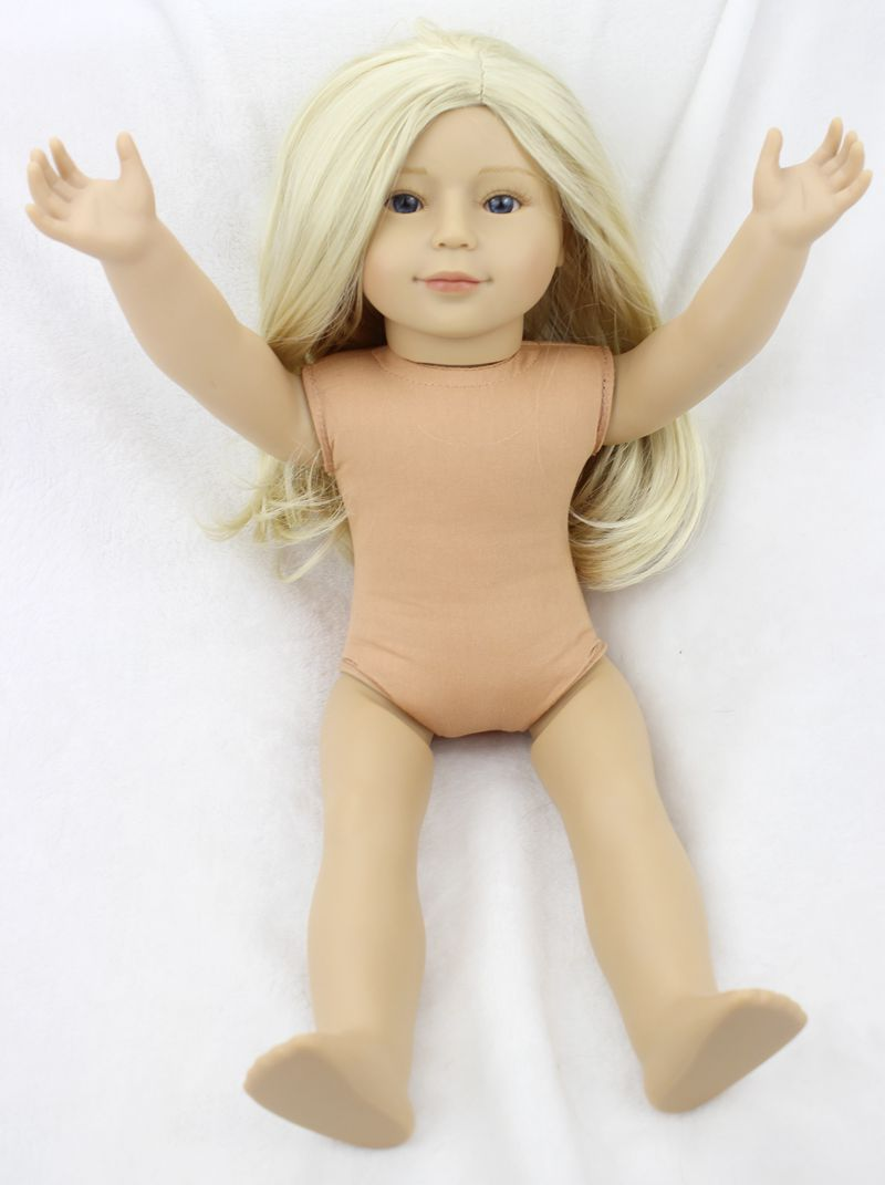 Pursue 18 High Quality Plastic American Girl Naked Doll Realistic American Girl Doll Naked Lifelike Baby Doll Toys for Children lifelike american 18 inches girl doll prices toy for children vinyl princess doll toys girl newest design