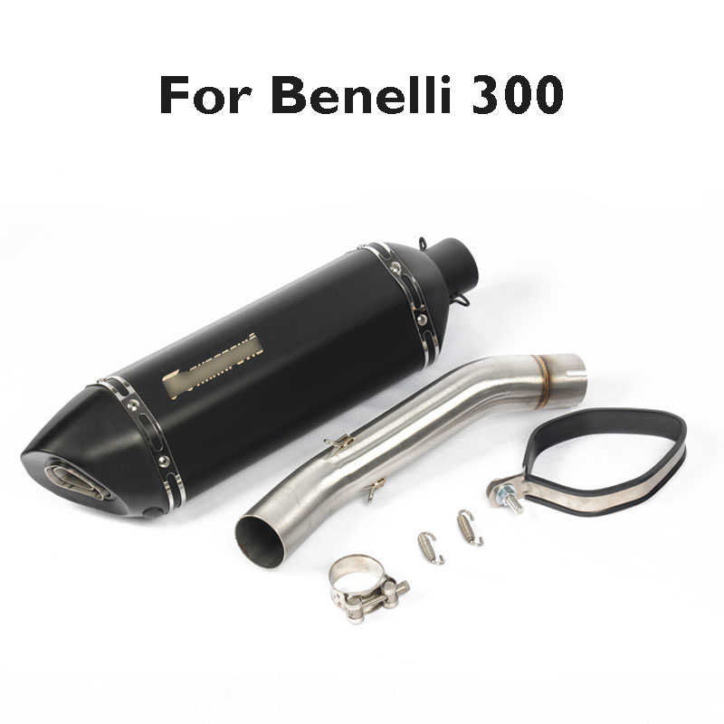 For Benelli 300 Motorcycle Exhaust Muffler Exhaust System Tip Tail Pipe Mid Link Tube Slip on Exhaust for Benelli 300 in Exhaust Exhaust Systems from Automobiles Motorcycles