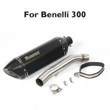 For Benelli 300 Motorcycle Exhaust Muffler System Tip Tail Pipe Mid Link Tube Slip on for