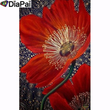 DIAPAI 100% Full Square/Round Drill 5D DIY Diamond Painting Flower painting Diamond Embroidery Cross Stitch 3D Decor A18616 diapai 5d diy diamond painting 100