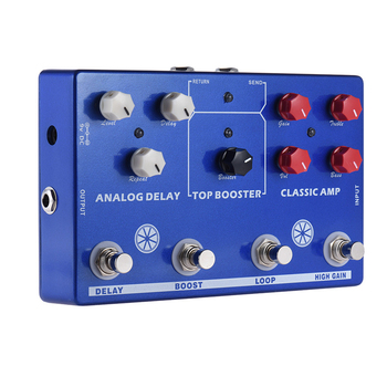 Mosky TONE MAKESTATION Guitar Effect Pedal Mini Effect Pedal 4 in 1  Guitar Parts & Accessories