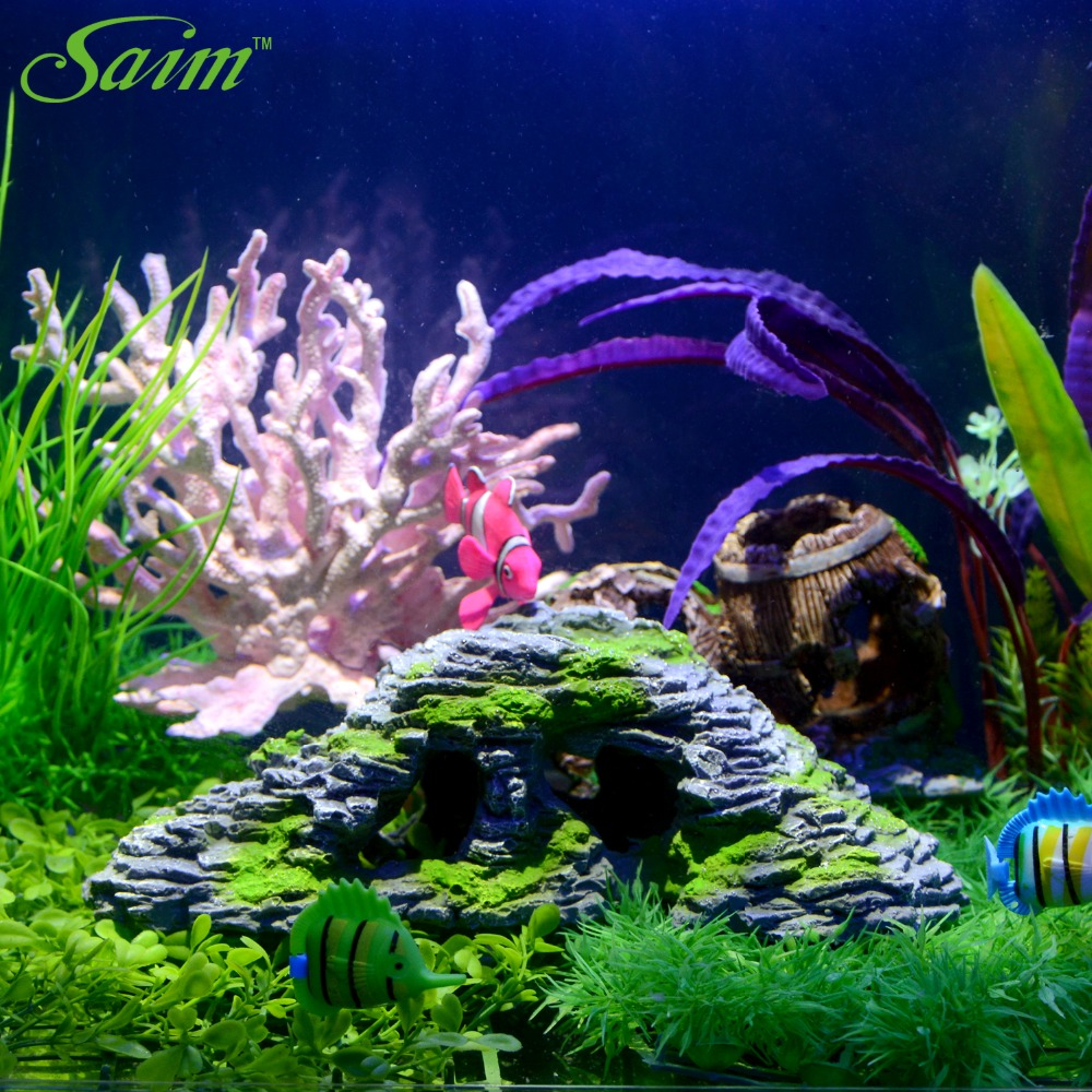 Artificial stone fish tank aquarium decoration acuarios for Aquarium cave decoration