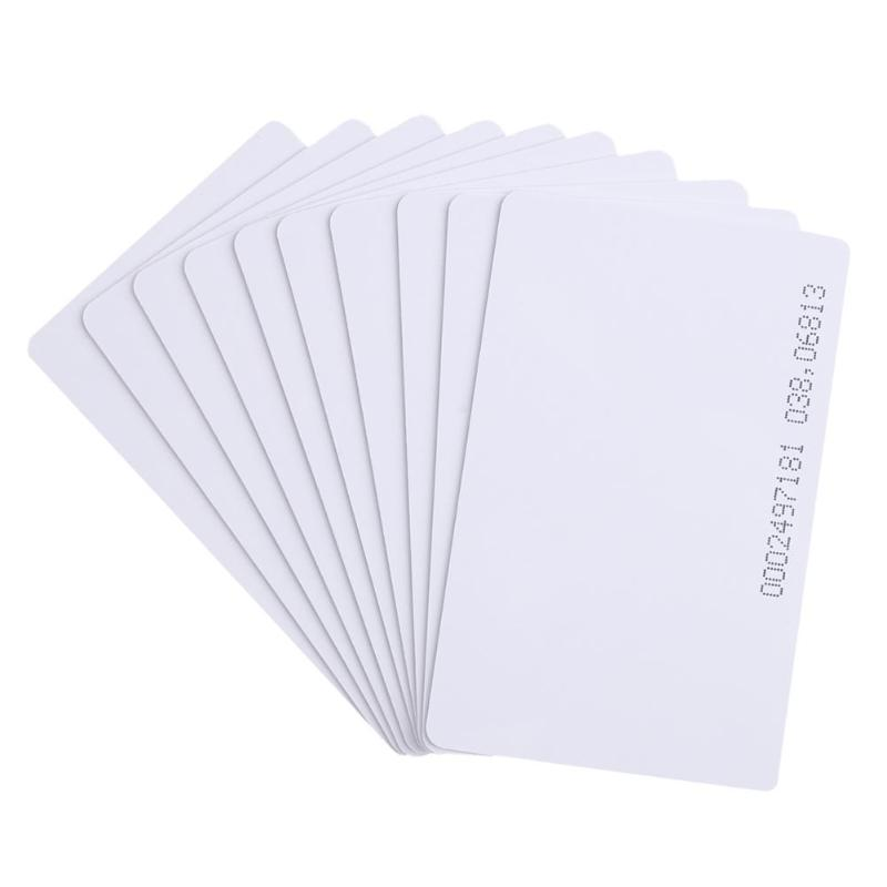 10pcs RFID Smart Entrance Guard Card 125Khz EM4100 Door Control ID Cards