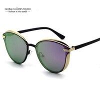 Fashion Design Cat-Eye Forma Oro Nastro Matel Cornice Colorata Polaroid UV400 Per La Signora E Donna RST016