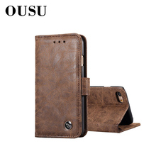 OUSU Leather Wallet Case For iphone xr case x xs max Business Card Holder 6 7 8 Mobile Phone Accessories Kickstand