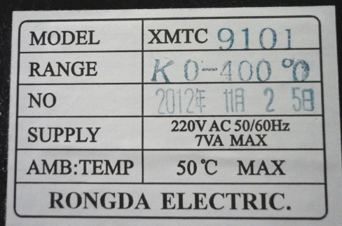 Rongda XMTC-9101 Thermostat 0-400 type K nouveau original