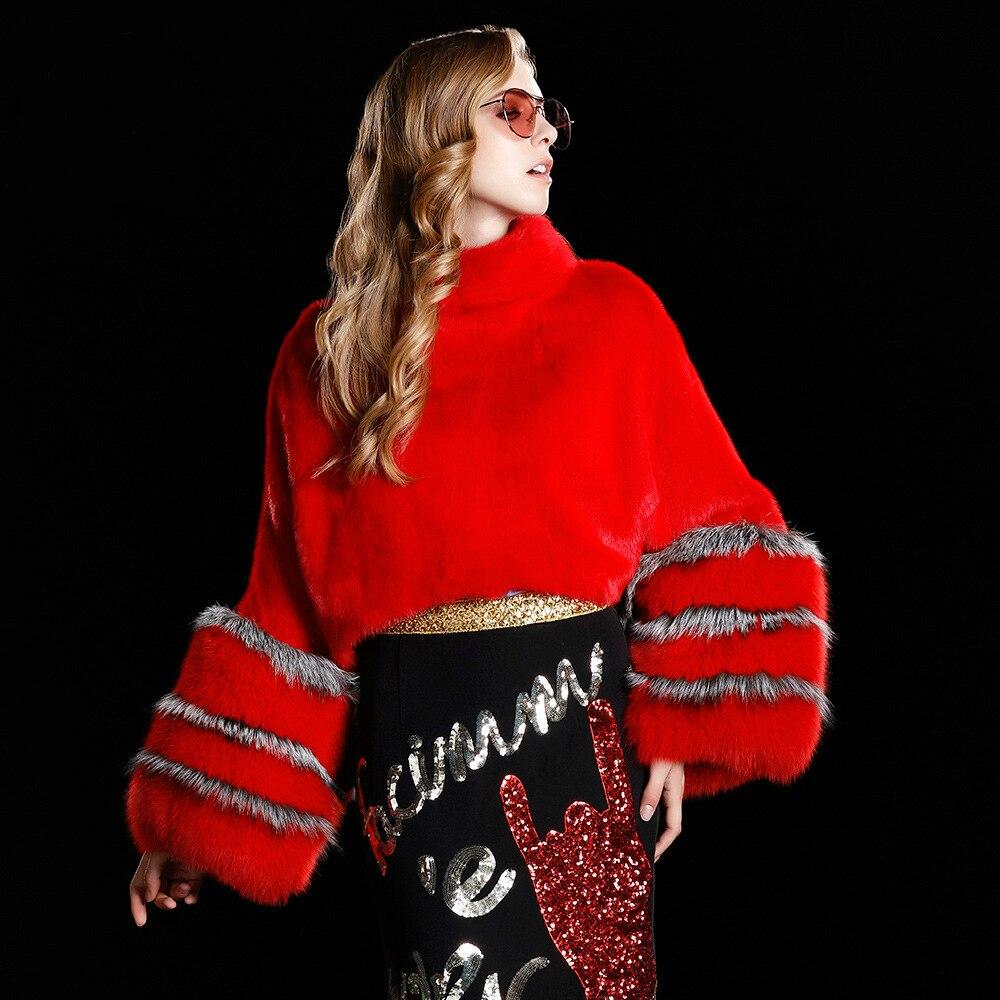 Potongan Baru Fashion Wanita Imitasi Mink Bulu Bulu Mantel Gratis Ukuran  Puff Sleeve Mulia Longgar Pullover Lengan Kelelawar Bulu Imitasi MantelUS   68.40 1a0778c4d4