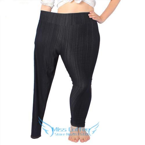 Free Shipping 2018 Female Super Stretch Pencil Pants Women High Elasticity Leggings Imitated Jeans Fashion Pant Plus-Size L-5XL