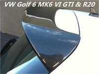 Углеродного волокна заднего крыла багажник спойлер для VW Golf 6 MK6 VI GTI и R20 2010 2011 2012 2013 BY EMS REVOZPORT Стиль