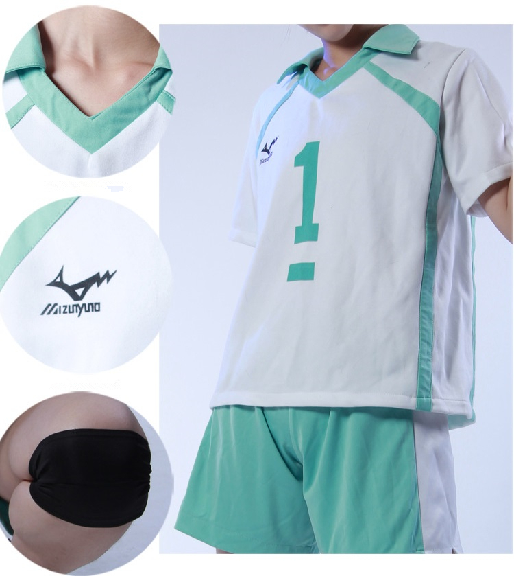 Customized Anime Haikyuu Aoba Johsai High School Volleyball Club Jerseys Oikawa Tooru Sportswear Cosplay Costume Shirts Pants in Anime Costumes from Novelty Special Use