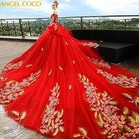 Роскошный красный Беременность для беременных свадебные платья цветок суд Великий Гэтсби платье Великолепная халат де mariée невесты замуж д