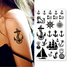 Marine Navy Pirate Anchor Temporary Body Art Flash Tattoo Stickers, 17*10cm Waterproof Tatoo Summer Style Adult Sex Products