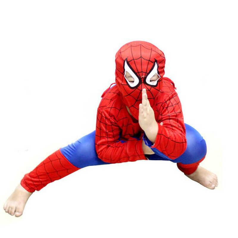男の子服ハロウィン衣装子供のためのスパイダーマンパーティー映画の古典的なスーパーヒーローコスプレ少女スーツ子供服