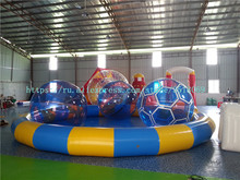 8 m diameter round PVC inflatable swimming pool, PVC inflatable swimming pool, with free air pump. цена в Москве и Питере