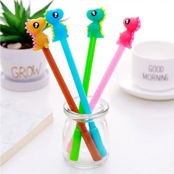 1pcs 0.38 mm Cute Kawaii Candy Dinosaur Boy Gel Pen School Office Writing Supplies Promotional Gift Signature Pen Christmas Gift