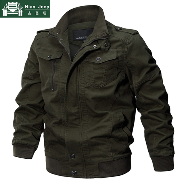 2018 Plus Size Military Jacket Men Spring Autumn Cotton Pilot Jacket Coat Army Men's Bomber Jackets Cargo Flight Jacket Male 6XL 5