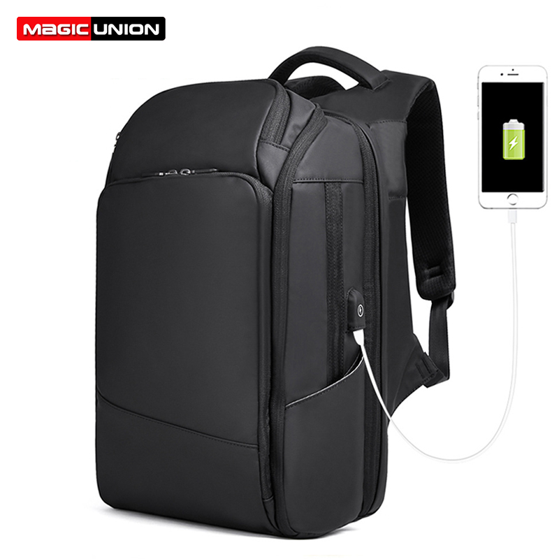MAGIC UNION Business Style Backpack for Men 17 inch Bagpack Large Travel Bags Fashion Mochila Hombre